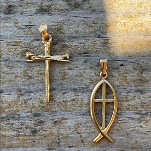 Jewelry - 14K gold cross pendants
